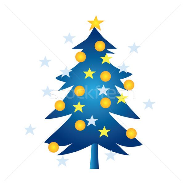 600x600 Simple Cartoon Christmas Tree Vector Illustration Peter Varga