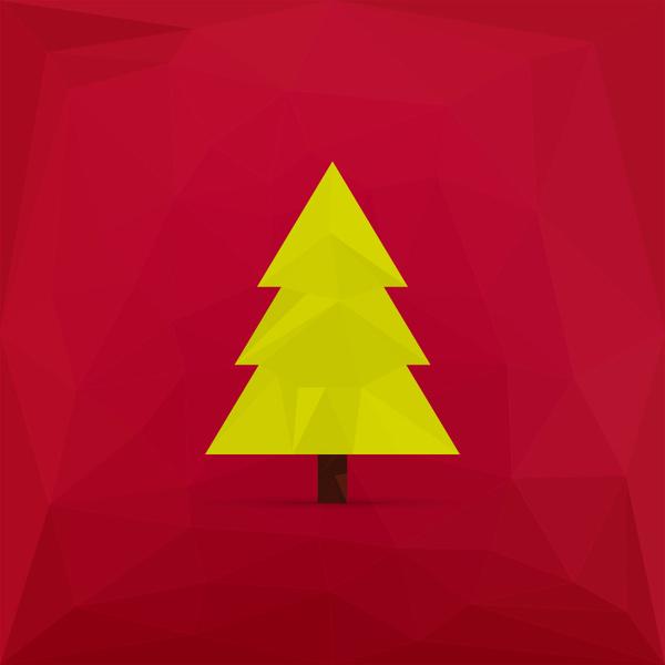 600x600 Simple Christmas Tree Free Vector In Adobe Illustrator Ai ( .ai