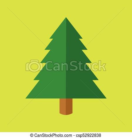 450x470 Simple Christmas Tree Cartoon Vector Illustration Graphic Design.
