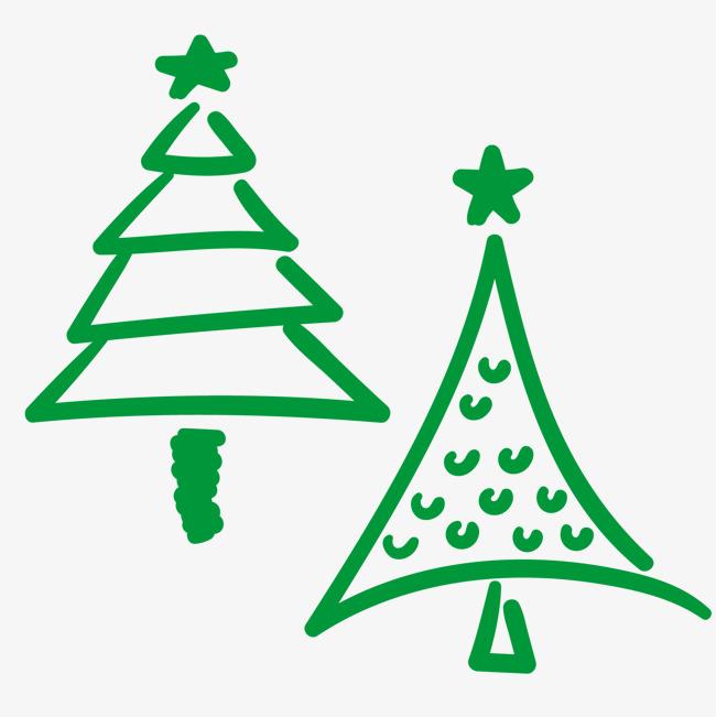650x651 Vector Hand Drawn Cartoon Christmas Tree, Cartoon Clipart, Tree