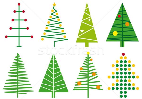 600x420 Simple Christmas Tree Designs, Vector Vector Illustration
