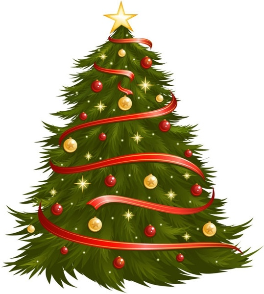 539x600 Christmas Tree 05 Vector Free Vector In Encapsulated Postscript