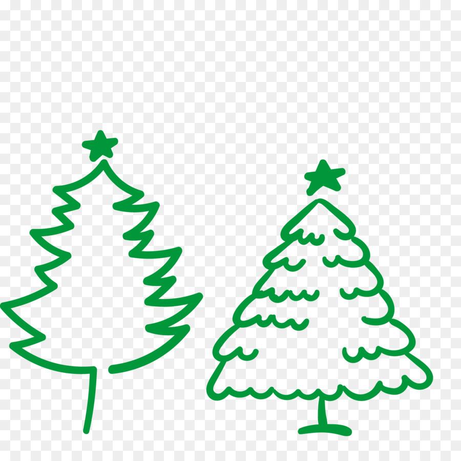 900x900 Christmas Tree Illustration