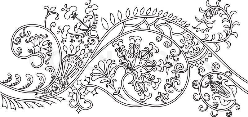 800x377 Filigree Flower Border. Can Be Connected Simple Moving To The Left
