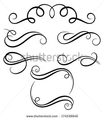 411x470 Simple Filigree Scroll Designs Filigree Stock Photos