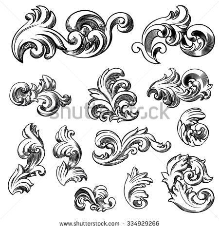 450x470 18new Filigree Clip Art