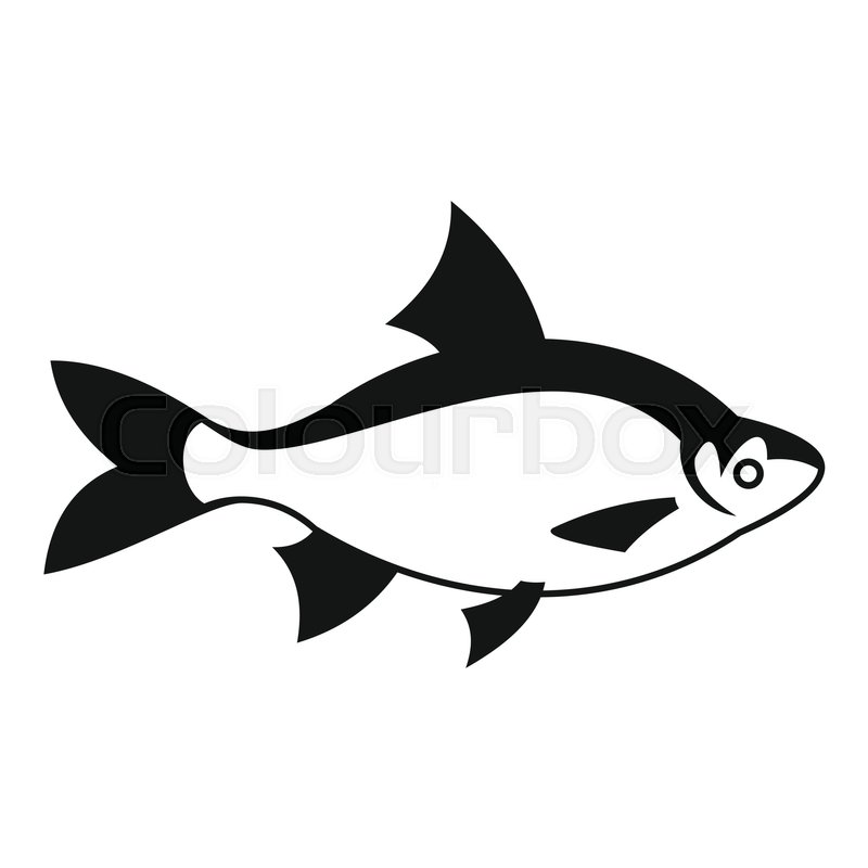 800x800 River Fish Icon. Simple Illustration Of River Fish Vector Icon For