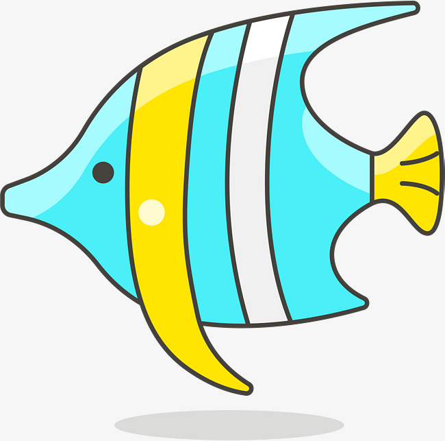 650x643 Simple Lovely Tropical Fish, Fish Vector, Cartoon Cute, Tropical