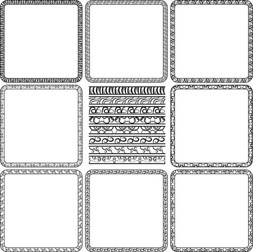500x497 Simple Black Frame Vector Free Download