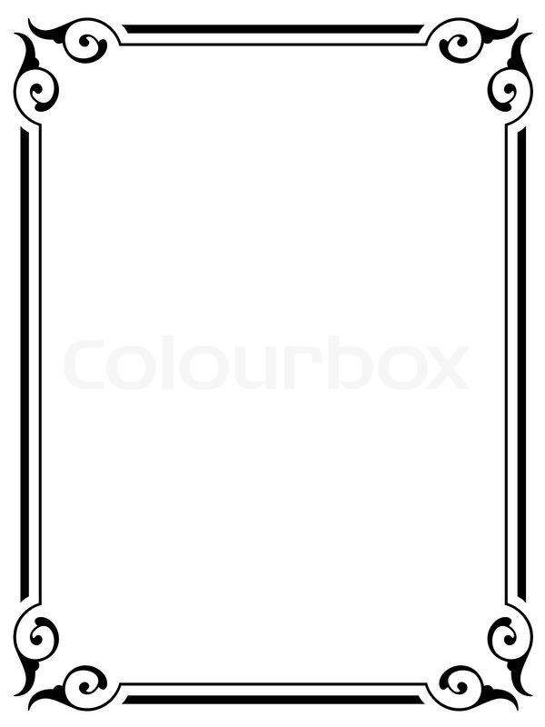 600x800 Simple Ornamental Decorative Frame Stock Vector Colourbox