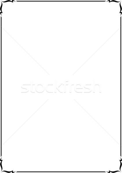 422x600 Simple Vector Decorative Frame Vector Illustration Mr Vector