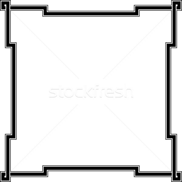 600x600 Simple Vector Square Decorative Frame Vector Illustration
