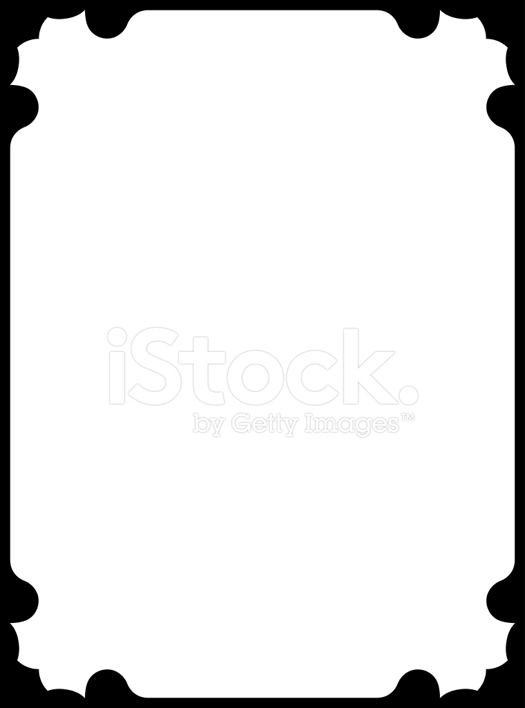 759x1024 Vector Illustration Simple Frame Stock Vector