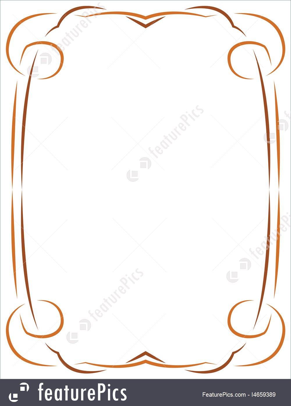 1000x1392 Vector Simple Frame For Design Stock Illustration I4659389