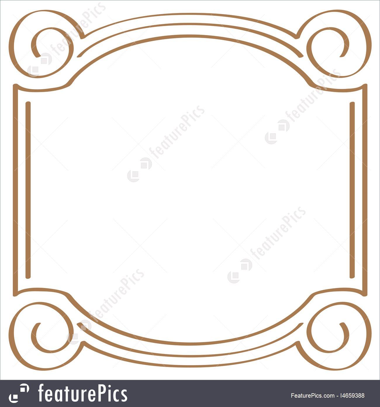 1300x1392 Vector Square Simple Frame For Design Stock Illustration I4659388