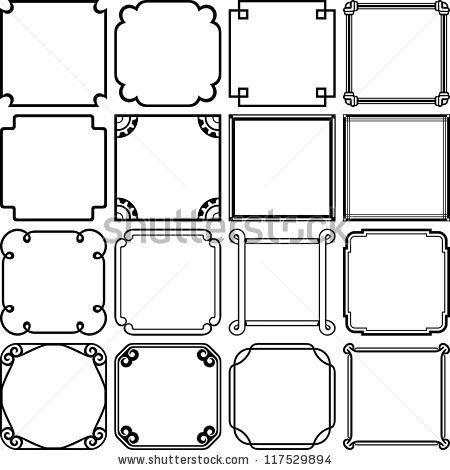 450x470 Stock Vector Vector Decorative Simple Frames Digital Design