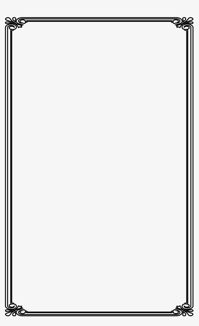 650x1066 Simple Black Stripe Frame Vector Material, Simple, Black, Shaped
