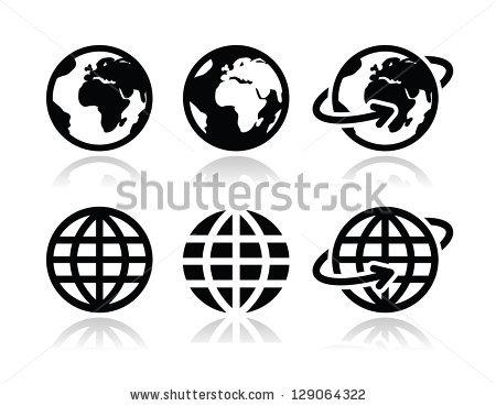 450x369 Globe Earth Vector Icons Set Clipart Panda