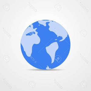 300x300 Photostock Vector Blue Vector Earth Globe Isolated On White Light