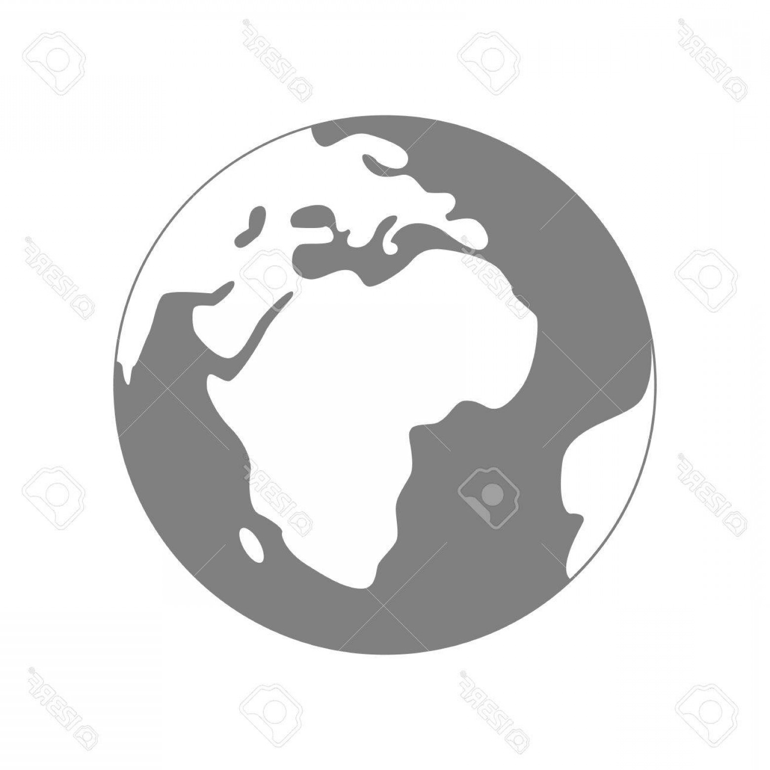 1560x1560 Photostock Vector Isolated Planet Earth On White Background Simple