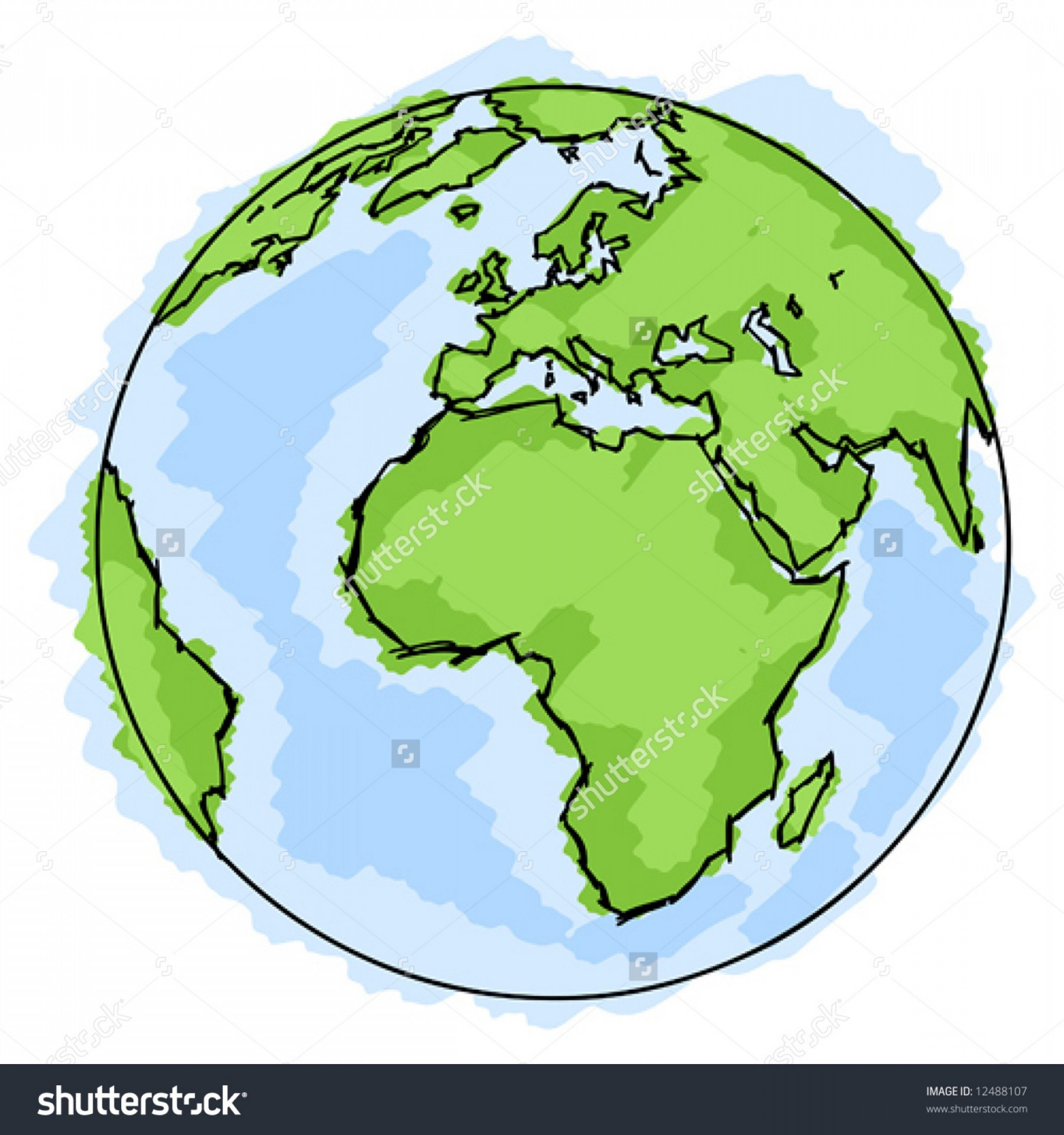 2160x2304 Simple Drawing Of Earth Exclusive Stock Vector Globe Simple