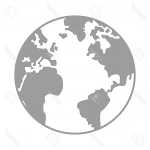 300x300 Simple Earth Icon Globe Vector Orangiausa