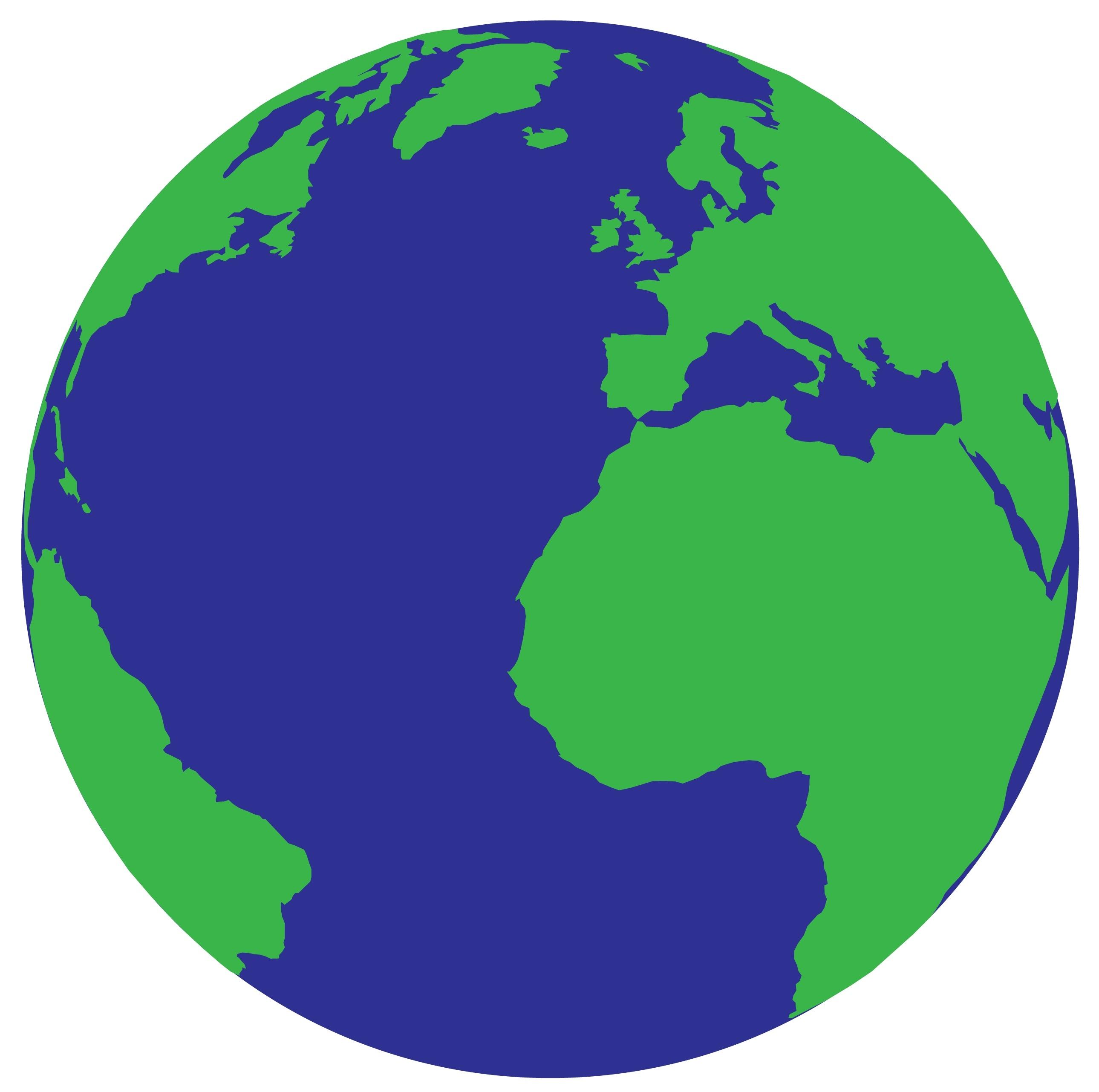 2579x2563 Simple Earth Vector