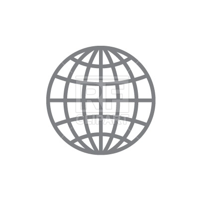 400x400 Simple Globe Icon Free Vector Image Vector Artwork Of Signs