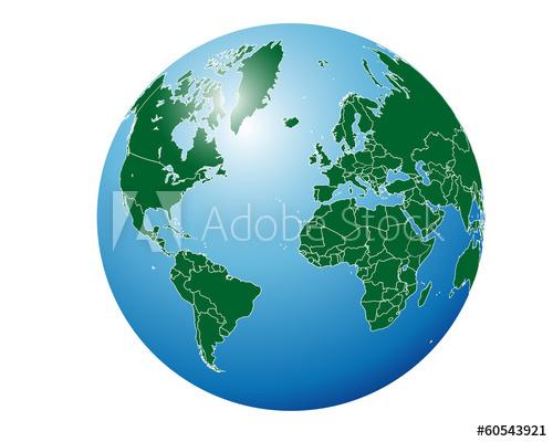 500x400 Simple Globe World Map