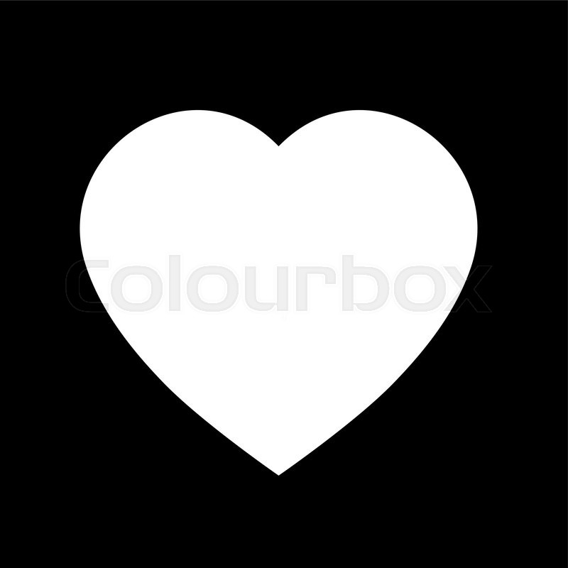 800x800 Simple Heart Icon. Black And White Heart Icon Shape. Vector Heart