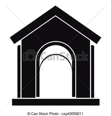 450x470 Toy House Icon, Simple Style. Toy House Icon. Simple Illustration