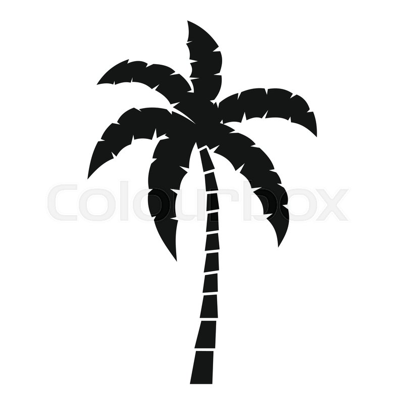 800x800 Palm Tree Icon. Simple Illustration Of Palm Tree Vector Icon For