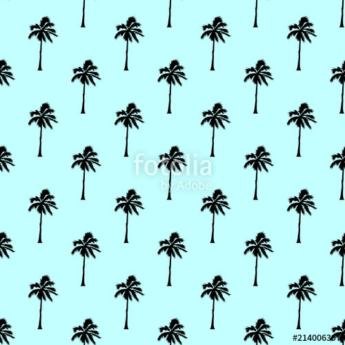 500x500 Palm Tree Pattern Seamless Texture. Simple Illustration Of Palm