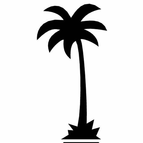 474x474 Simple Palm Tree Vector. California Palm Tree Vector Outline