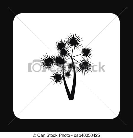 450x470 Two Tropical Palm Tree Icon, Simple Style. Two Tropical Palm Tree