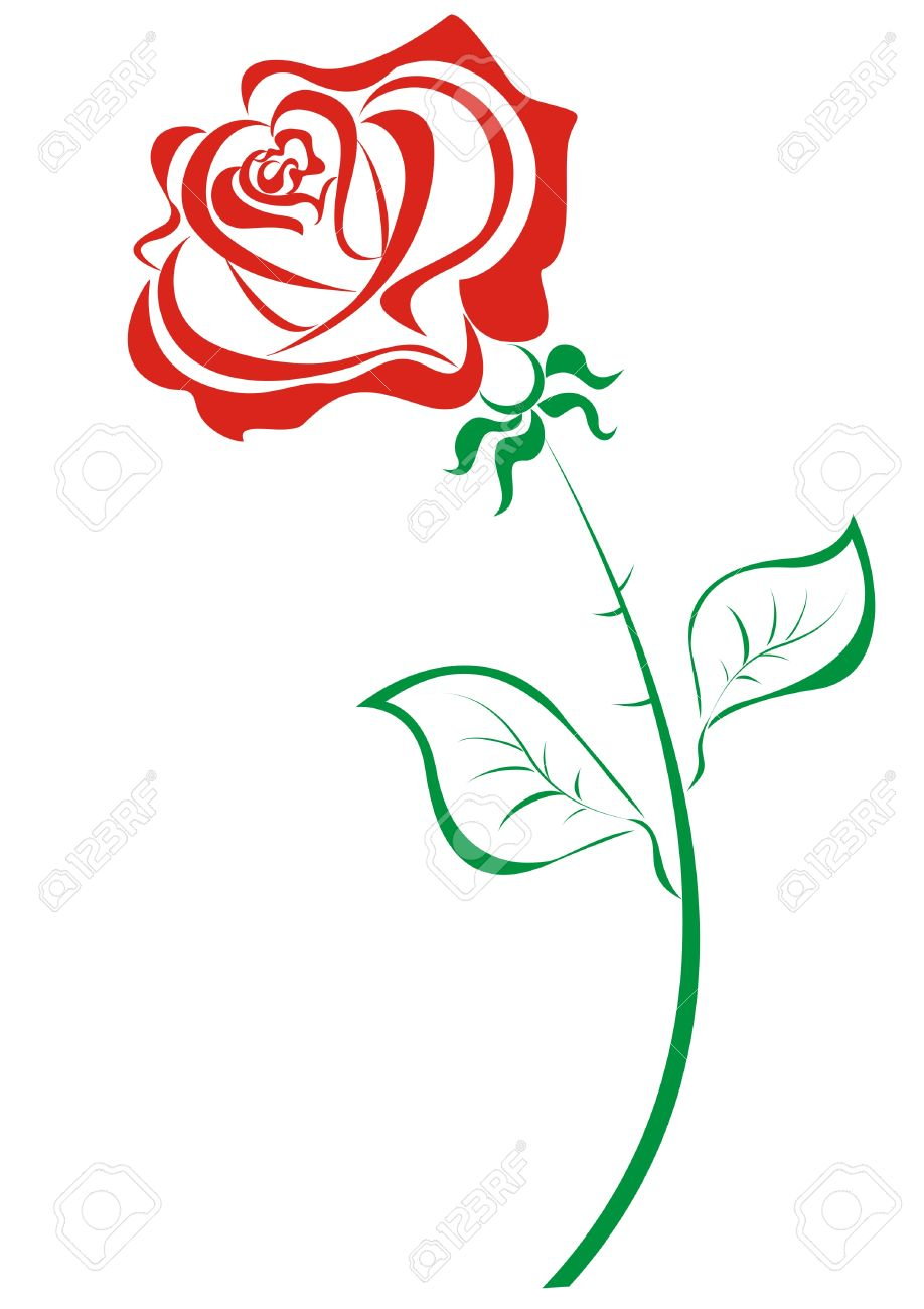 918x1300 Red Rose Clipart Simple Rose