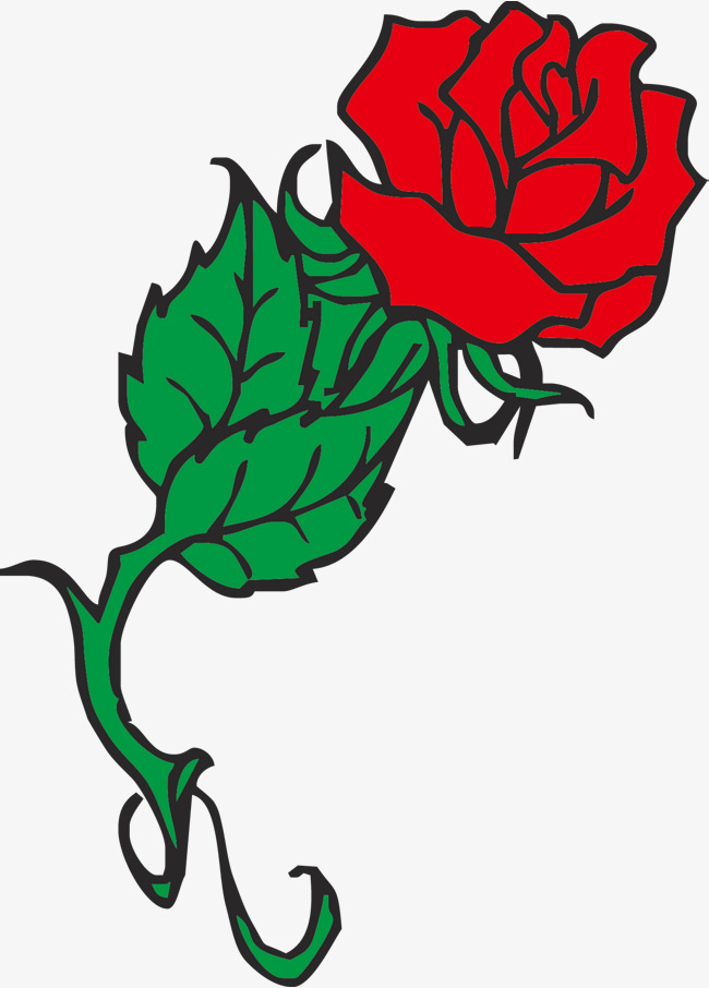 650x906 Red Vector Rose, Simple Rose, Vector Rose, Cartoon Rose Png And