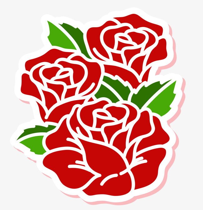 650x671 Three Red Roses, Rose Pen, Simple Rose, Vector Rose Png And Vector