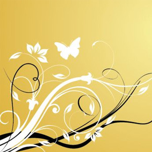 300x300 Simple Floral Swirl Background Free Vectors Ui Download