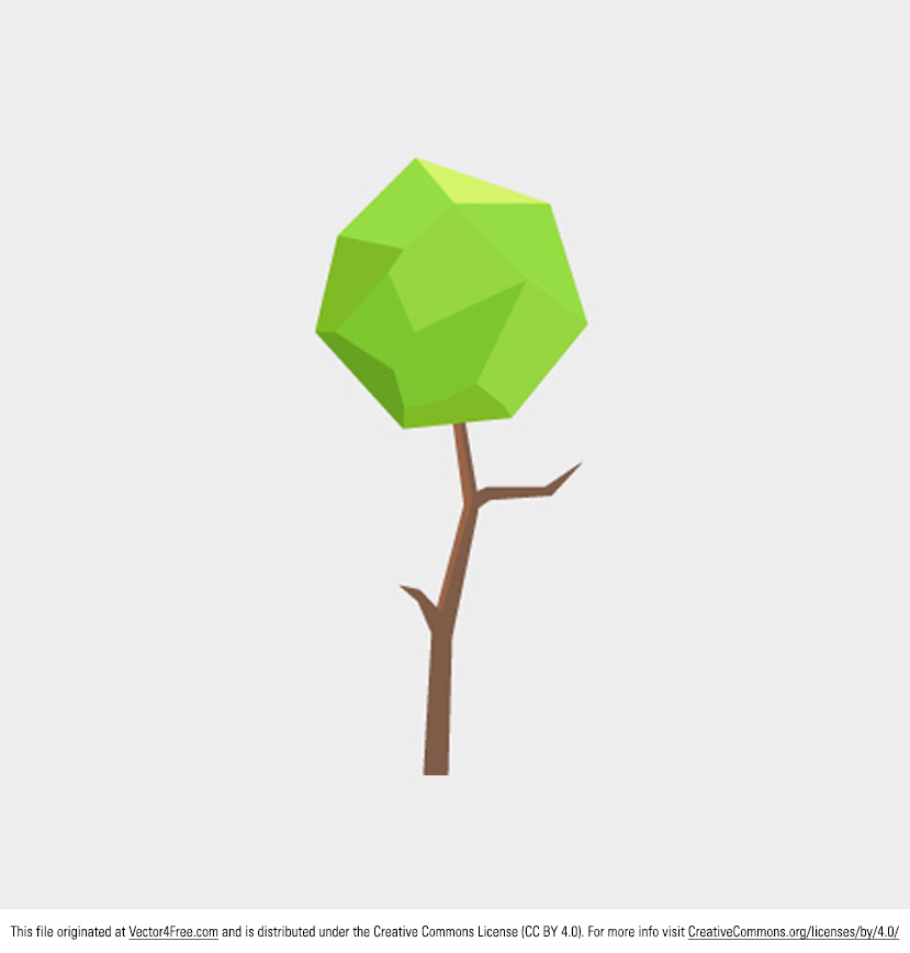 829x869 Free Polygonal Tree Vector