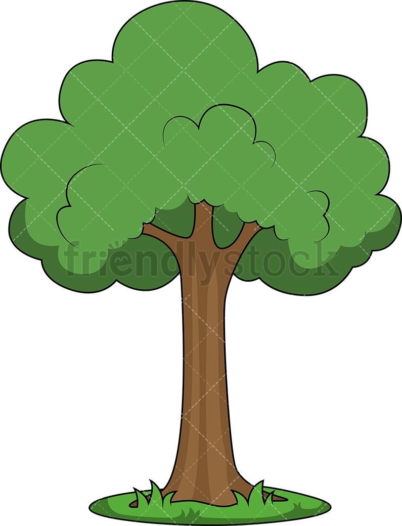 795x1040 Simple Tree Cartoon Vector Clipart