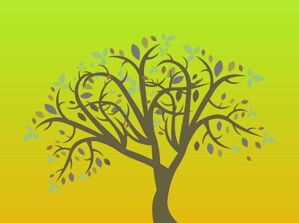 1024x767 Simple Tree Vector Vector Art Amp Graphics