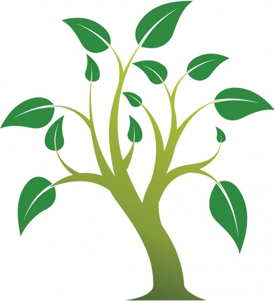 547x600 Simple Tree Free Vector In Adobe Illustrator Ai ( .ai