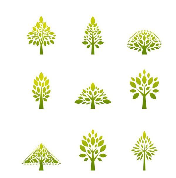 600x607 Simple Tree Logos Design Vector Free Download