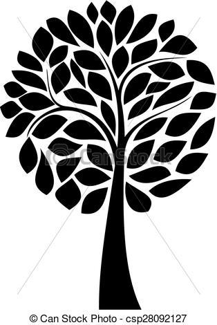 314x470 Black Tree Silhouette. Simple Black Tree Silhouette On White