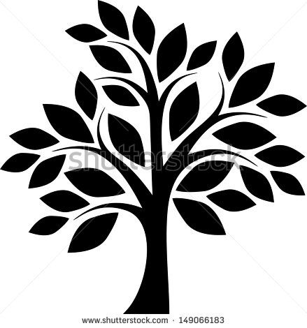 439x470 Decorative Simple Tree