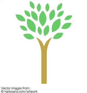 335x355 Download Simple Leaf Tree