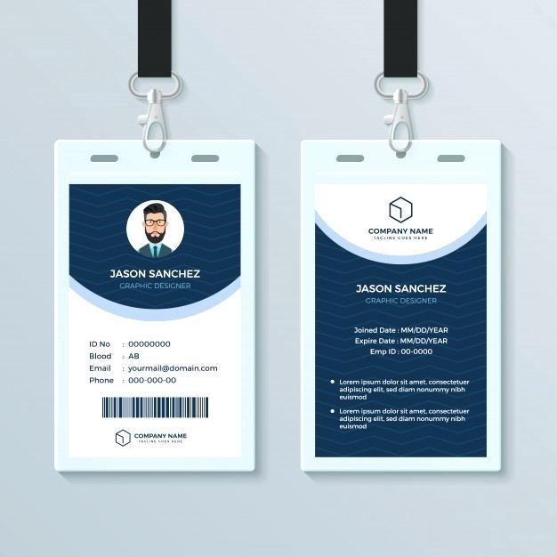 626x626 Employee Id Card Template Simple Landscape Vector Design Online