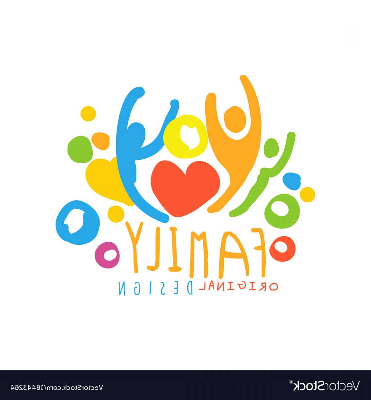 1200x1296 Multicolored Happy Family Logo Design With Simple Vector Shopatcloth