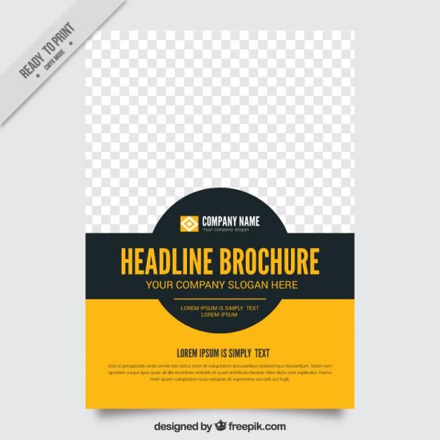626x626 Simple Brochure Template Vector Free Download